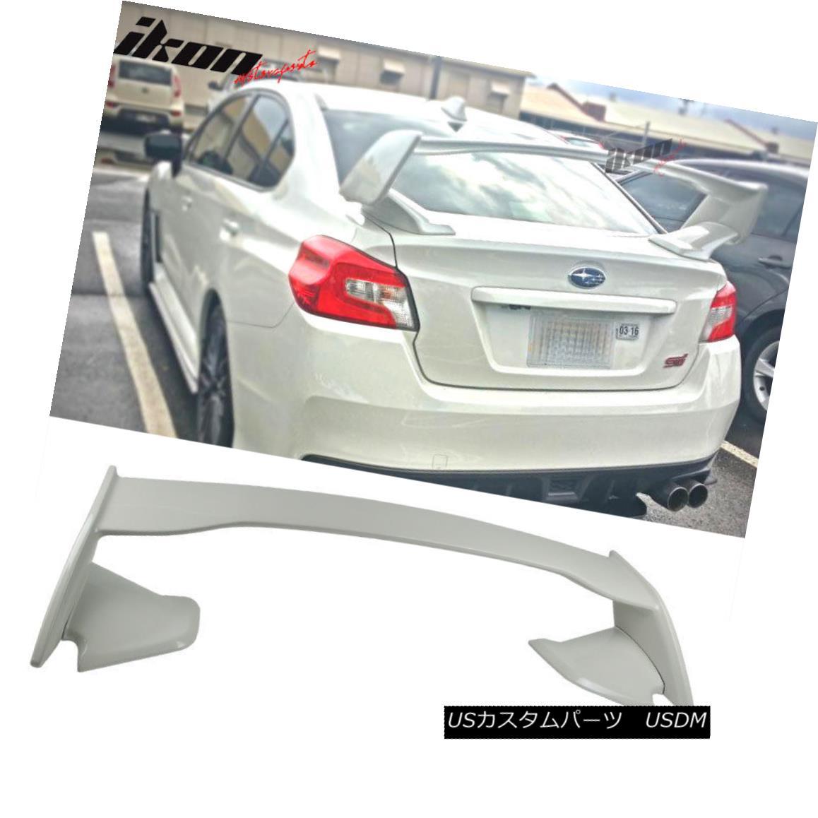 エアロパーツ For 15-18 Subaru WRX STI ABS Trunk Spoiler Painted #K1X Crystal White Pearl 15-18スバルWRX STI用ABSトランク・スポイラー#K1Xクリスタル・ホワイト・パール