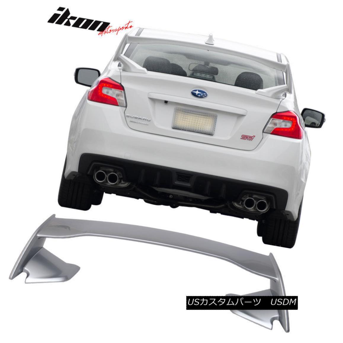 エアロパーツ For 15-18 Subaru WRX STI ABS Trunk Spoiler Painted #G1U Ice Silver Metallic 15-18スバルWRX STI用ABSトランク・スポイラー塗装#G1Uアイスシルバー・メタリック