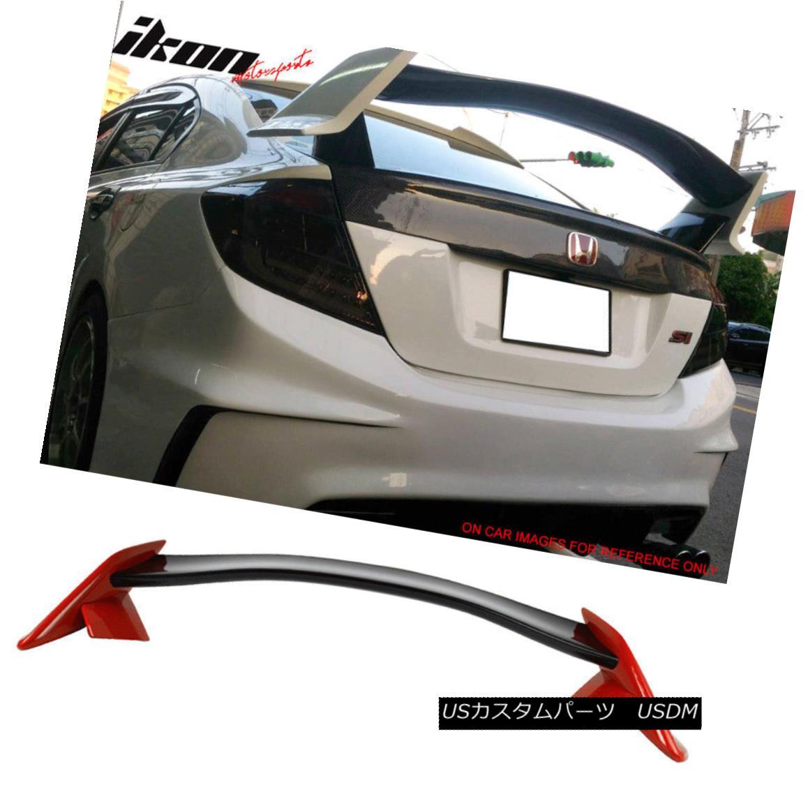 エアロパーツ Fits 12-15 Civic 9th Type R Trunk Spoiler Painted Glossy Black & Rallye Red フィット12-15シビック9thタイプRトランクスポイラー塗装光沢ブラック& ラリーレッド