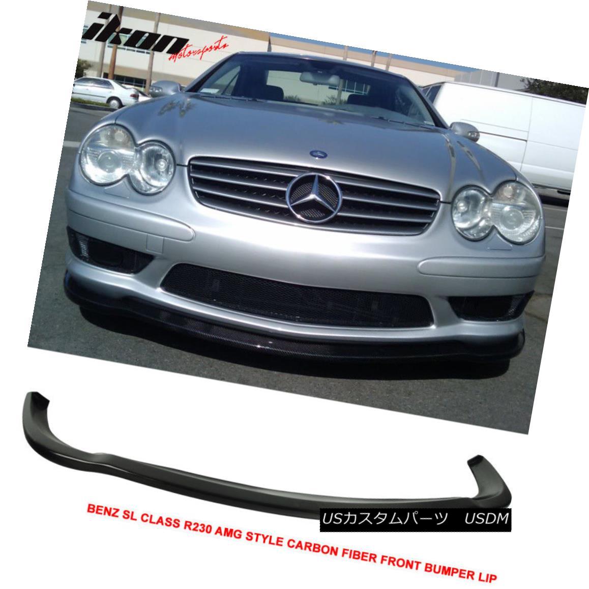 【オンライン限定商品】 エアロパーツ For 03-06 Benz Carbon SL Class R230 Style AMG エアロパーツ Style Front Bumper Lip - Carbon Fiber CF 03-06ベンツSLクラスR230 AMGスタイルフロントバンパーリップ - カーボンファイバーCF, ギフトギャラリー石橋:f0d1eef6 --- promotime.lt
