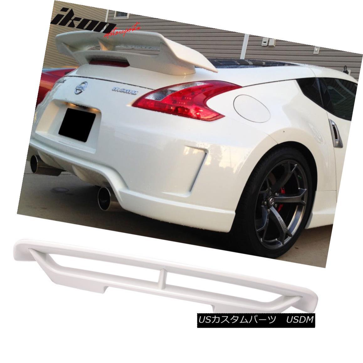 エアロパーツ Fits 09-18 Nissan 370Z Z34 Nismo Trunk Spoiler Painted #QAB White Pearl - ABS フィット09-18日産370Z Z34ニスモトランクスポイラー塗装#QABホワイトパール - ABS