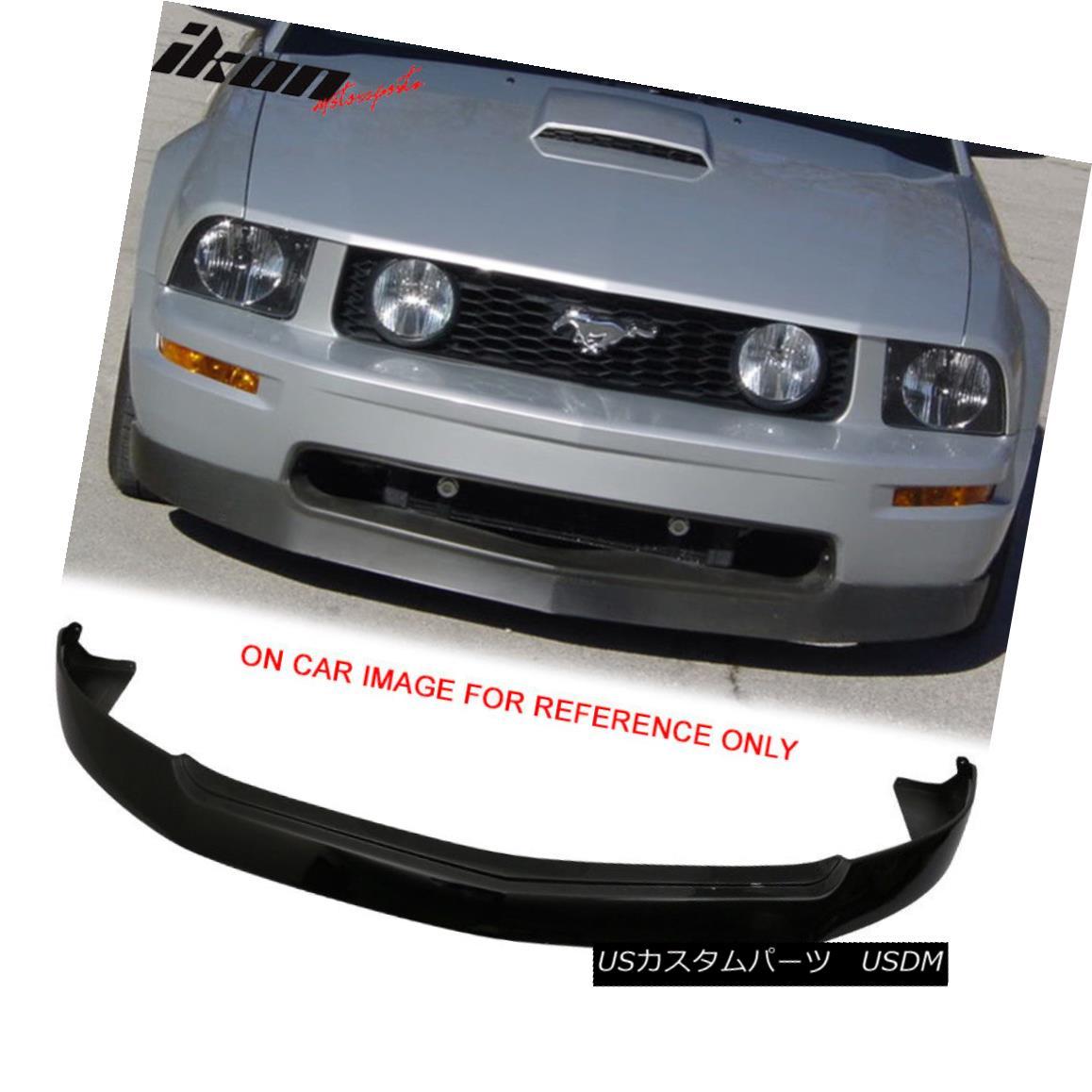 エアロパーツ Fits 05-09 Ford Mustang V8 GT 4.6L Front Bumper Lip Painted Ebony # UA フィット05-09フォードマスタングV8 GT 4.6Lフロントバンパーリップペイントエボニー#UA