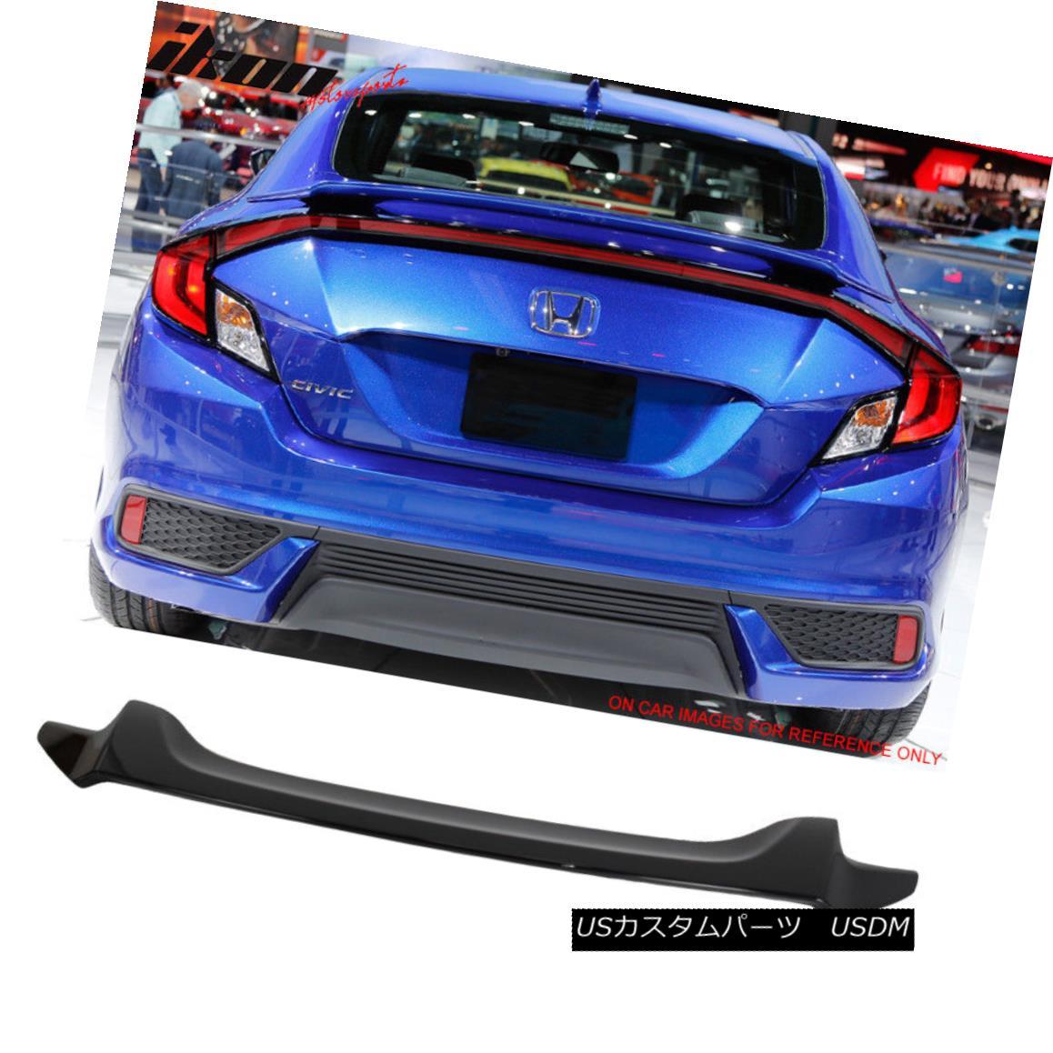 エアロパーツ Fit 16-18 Civic X 10th Coupe OE Trunk Spoiler Painted NH731P Crystal Black Pearl フィット16-18シビックX 10クーペOEトランクスポイラーNH731Pクリスタルブラックパールを塗装