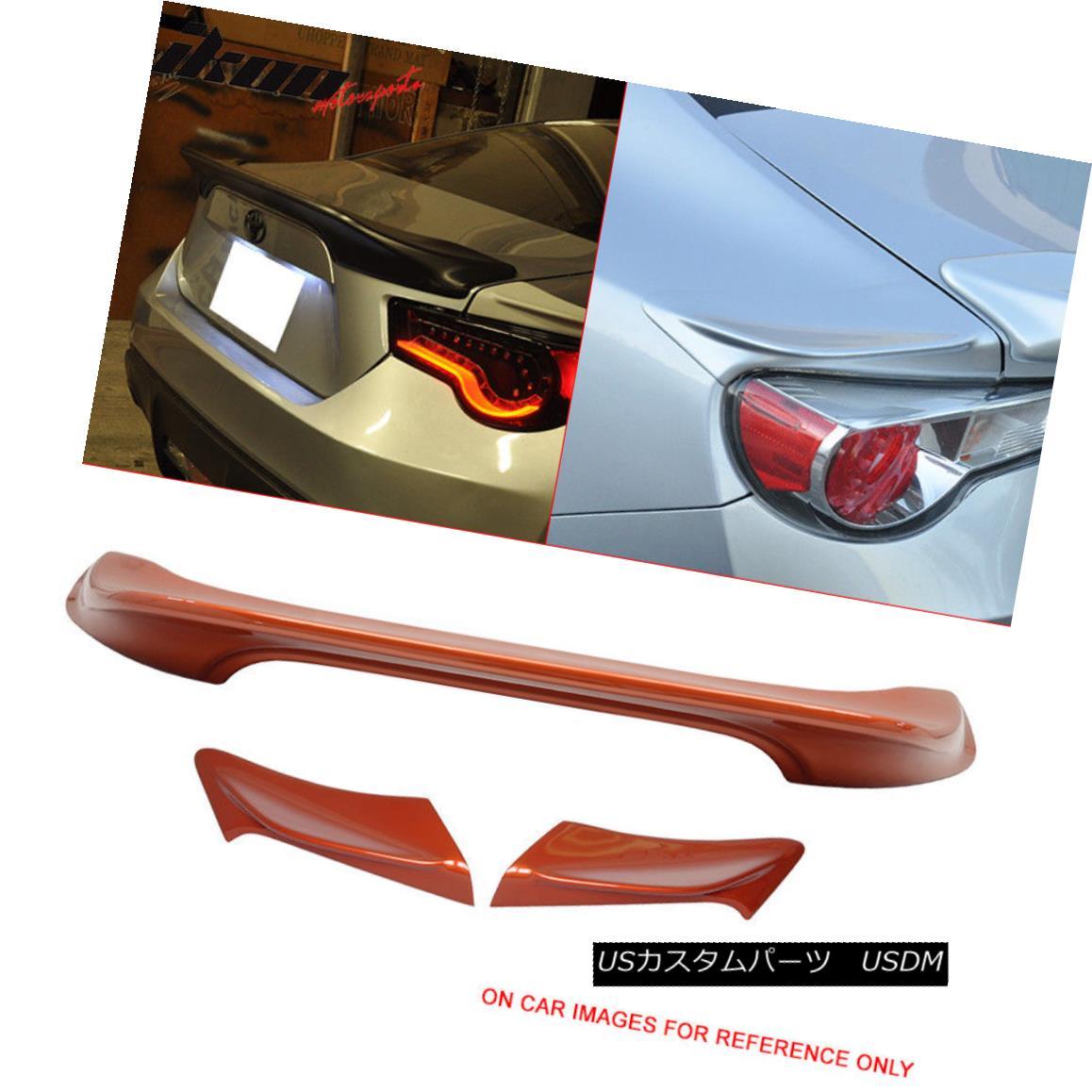 エアロパーツ Fits 13-17 FRS Painted #H8R Hot Lava Metallic TRD Trunk & Side Wing - ABS フィット13-17 FRS塗装#H8Rホット溶岩メタリックTRDトランク& サイドウィング - ABS
