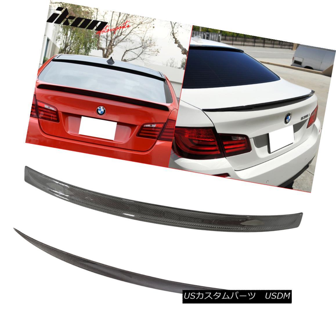 エアロパーツ Fits 11-16 F10 Sedan CF Carbon Fiber 3D Roof Wing & Performance Trunk Spoiler フィット11-16 F10セダンCF炭素繊維3Dルーフウィング& パフォーマンストランクスポイラー