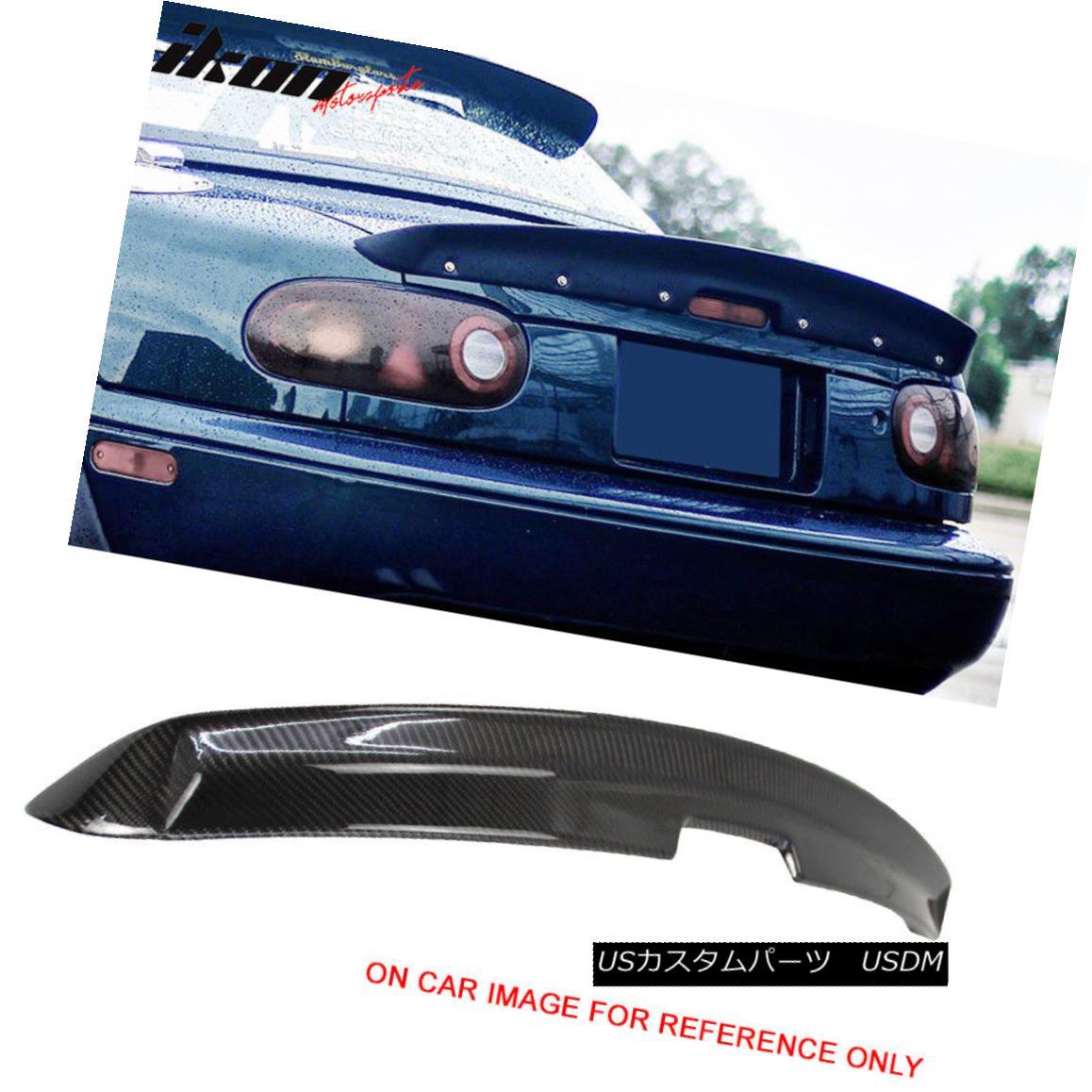 エアロパーツ 90-97 Mazda Miata MX5 MK1 KG Works Style Trunk Spoiler Wing - Carbon Fiber CF 90-97マツダMiata MX5 MK1 KG作品スタイルのトランク・スポイラー・ウィング - 炭素繊維CF