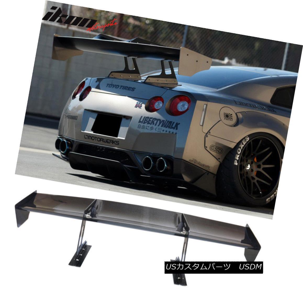 エアロパーツ For Nissan GTR GT-R R35 Swan Neck Trunk Wing Spoiler Carbon Fiber 日産GTR GT-R R35スワンネックトランクウイングスポイラーカーボンファイバー