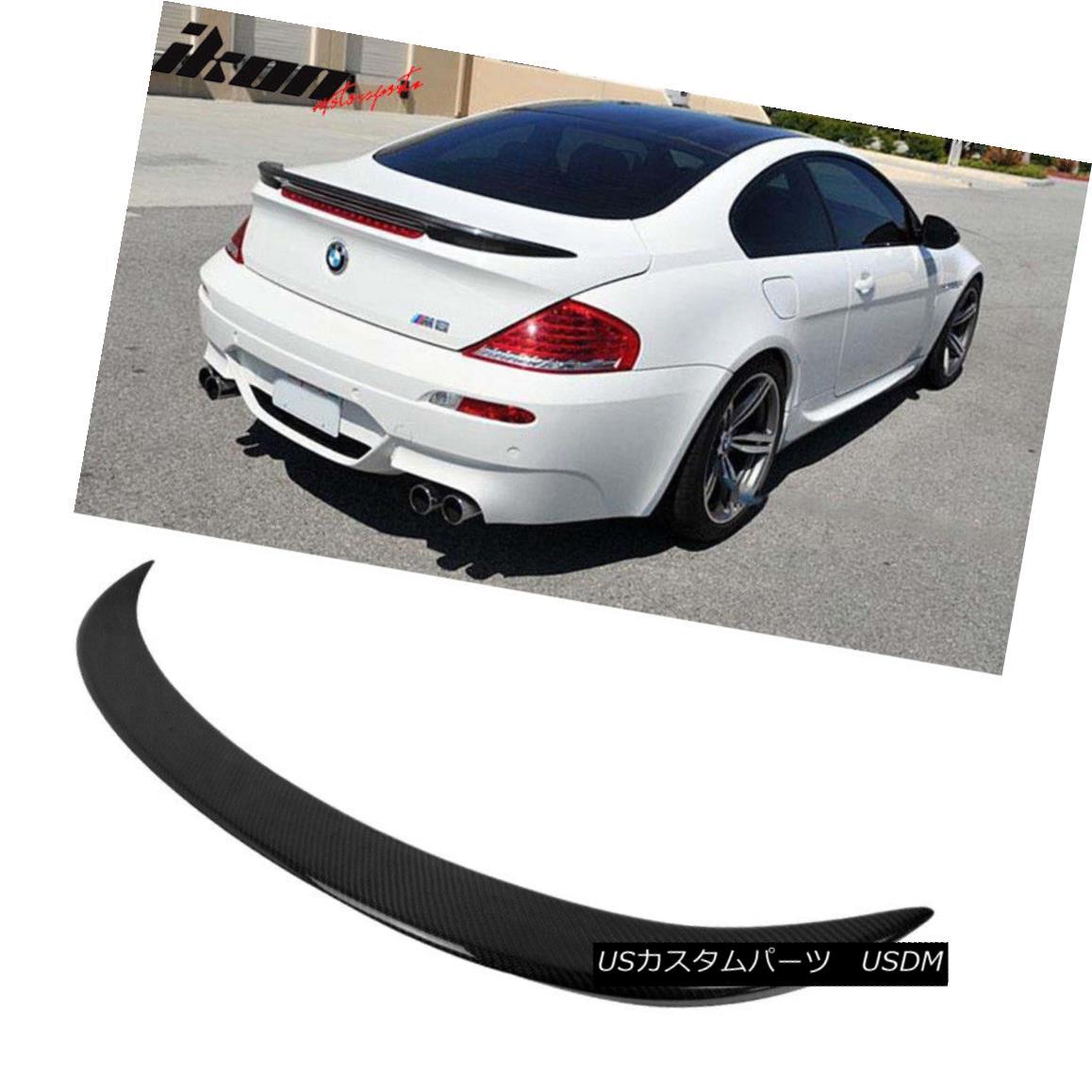 エアロパーツ Fits 04-08 BMW E63 6-Series Coupe Carbon Fiber CF V Style Trunk Spoiler Wing フィット04-08 BMW E63 6シリーズクーペ炭素繊維CF Vスタイルトランクスポイラーウィング