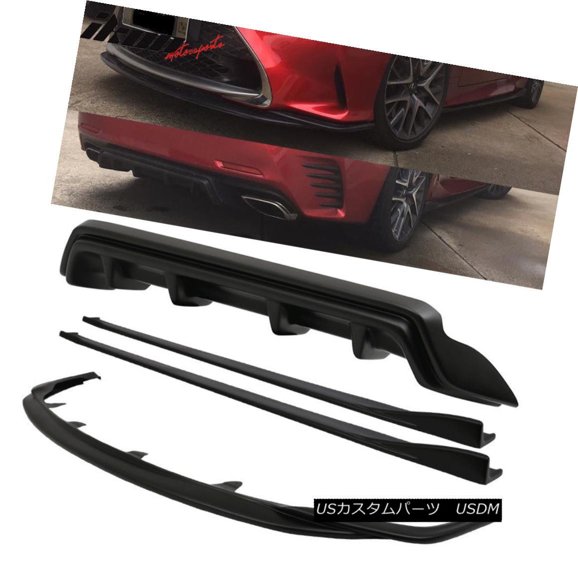 エアロパーツ Fits 15-17 Lexus RC300 RC350 F-Sport Silkblaze Style Full Lip Kit Conversion PP フィット15-17レクサスRC300 RC350 Fスポーツシルクブラシスタイルフルリップキットの変換PP