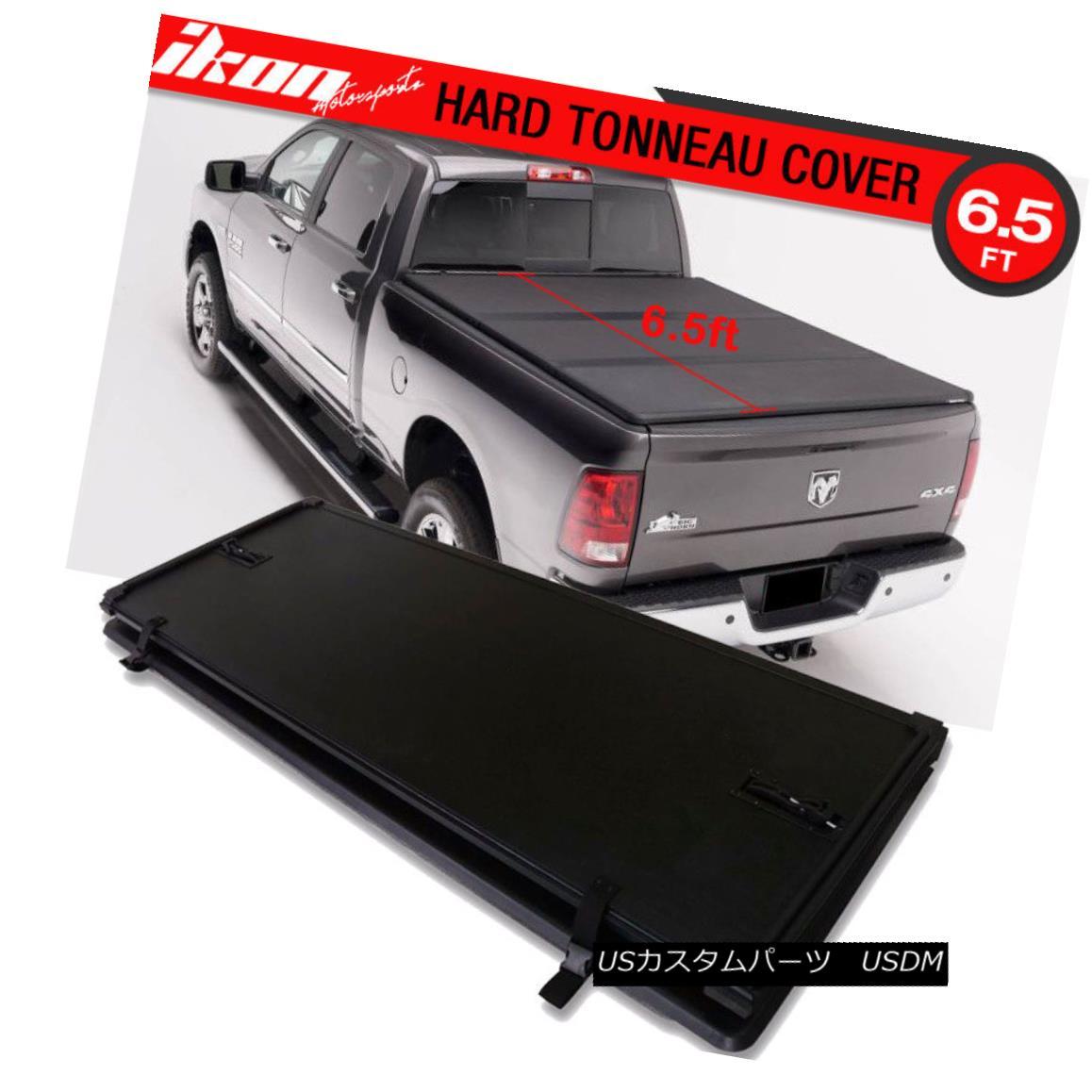 エアロパーツ For 02-08 Dodge Ram1500 6.5ft Bed Lock Tri-Fold Hard Solid Tonneau Cover 02-08 Dodge Ram1500 6.5ftベッドロックトライフォールドハードソリッドトノーカバー