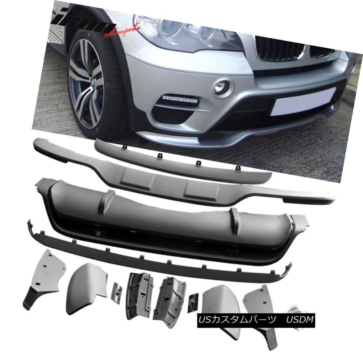 エアロパーツ Fits X5 E70 11-13 PP Lci Model Front & Rear Bumper Lip Spoiler Kit 13Pcs PP フィットX5 E70 11-13 PP Lciモデルフロント& リアバンパーリップスポイラーキット13個PP