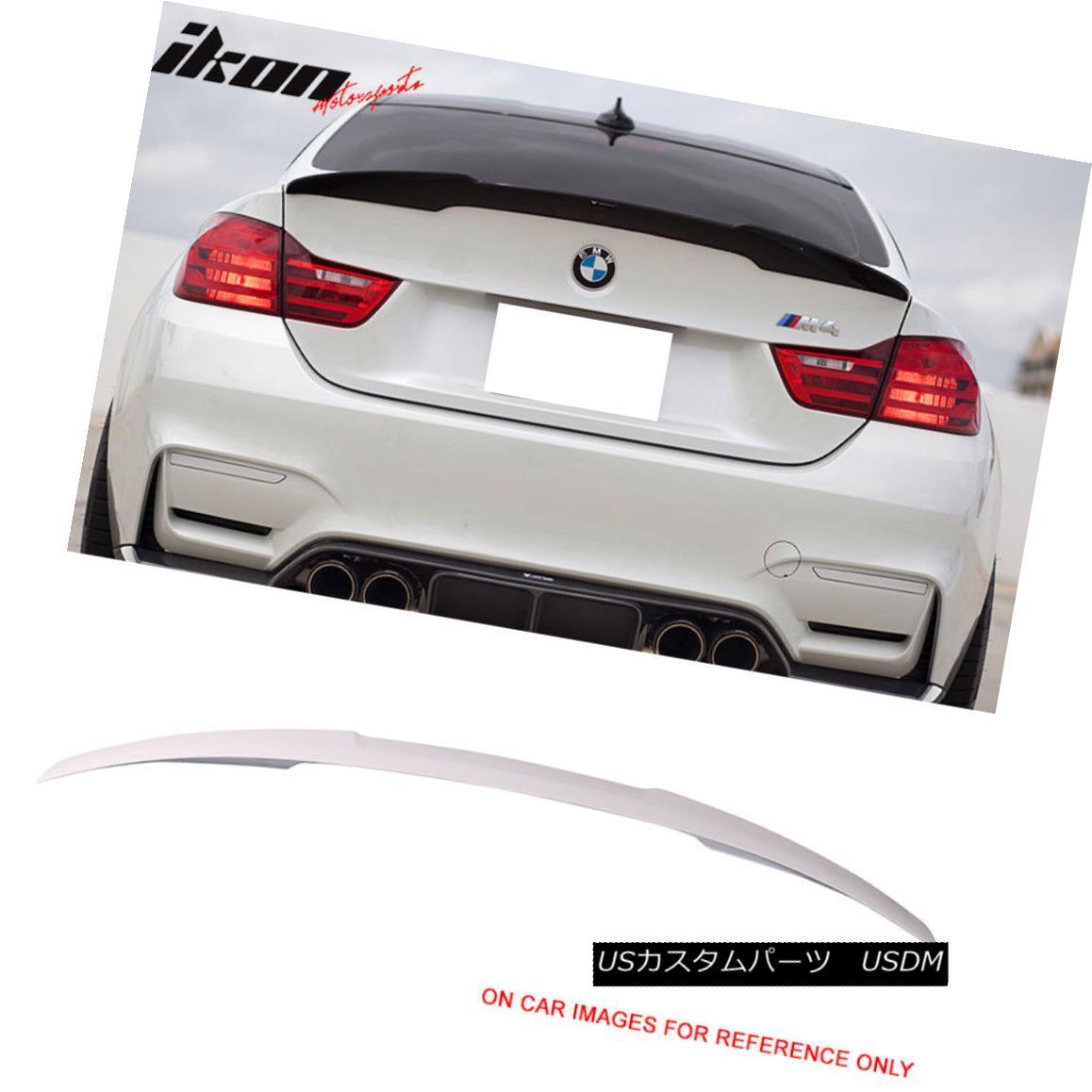 エアロパーツ Fits 14-17 BMW 4 Series F32 M4 Trunk Spoiler Painted #300 Alpine White III フィット14-17 BMW 4シリーズF32 M4トランク・スポイラー#300アルパイン・ホワイトIII
