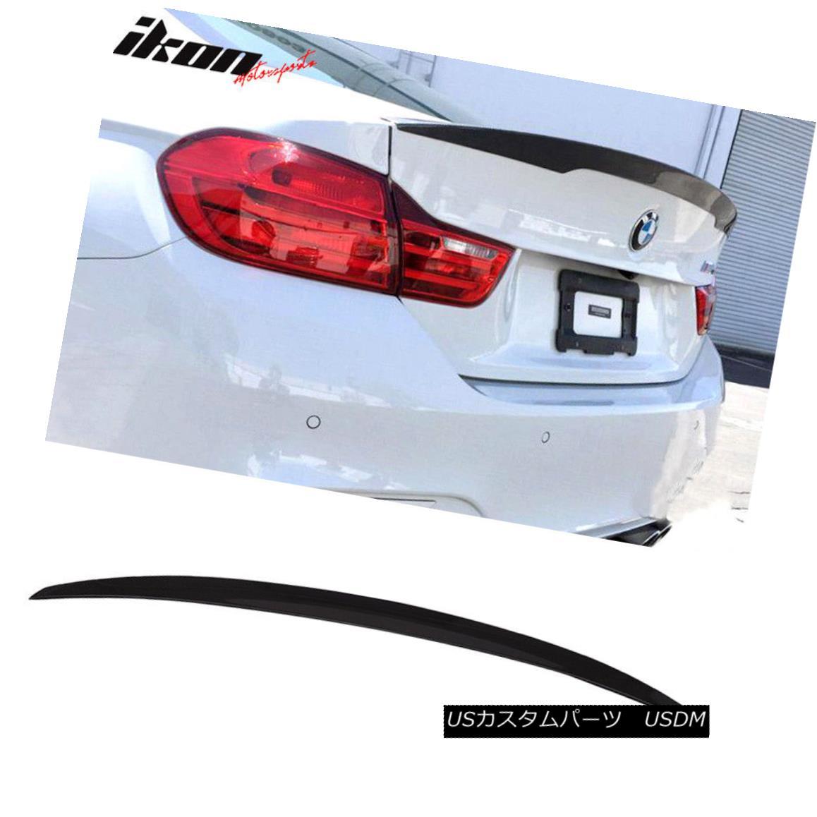 エアロパーツ Fits 14-18 F36 Gran Coupe Performance Trunk Spoiler Painted #475 Black Sapphire フィット14-18 F36グランクーペパフォーマンストランクスポイラー#475ブラックサファイアを塗った