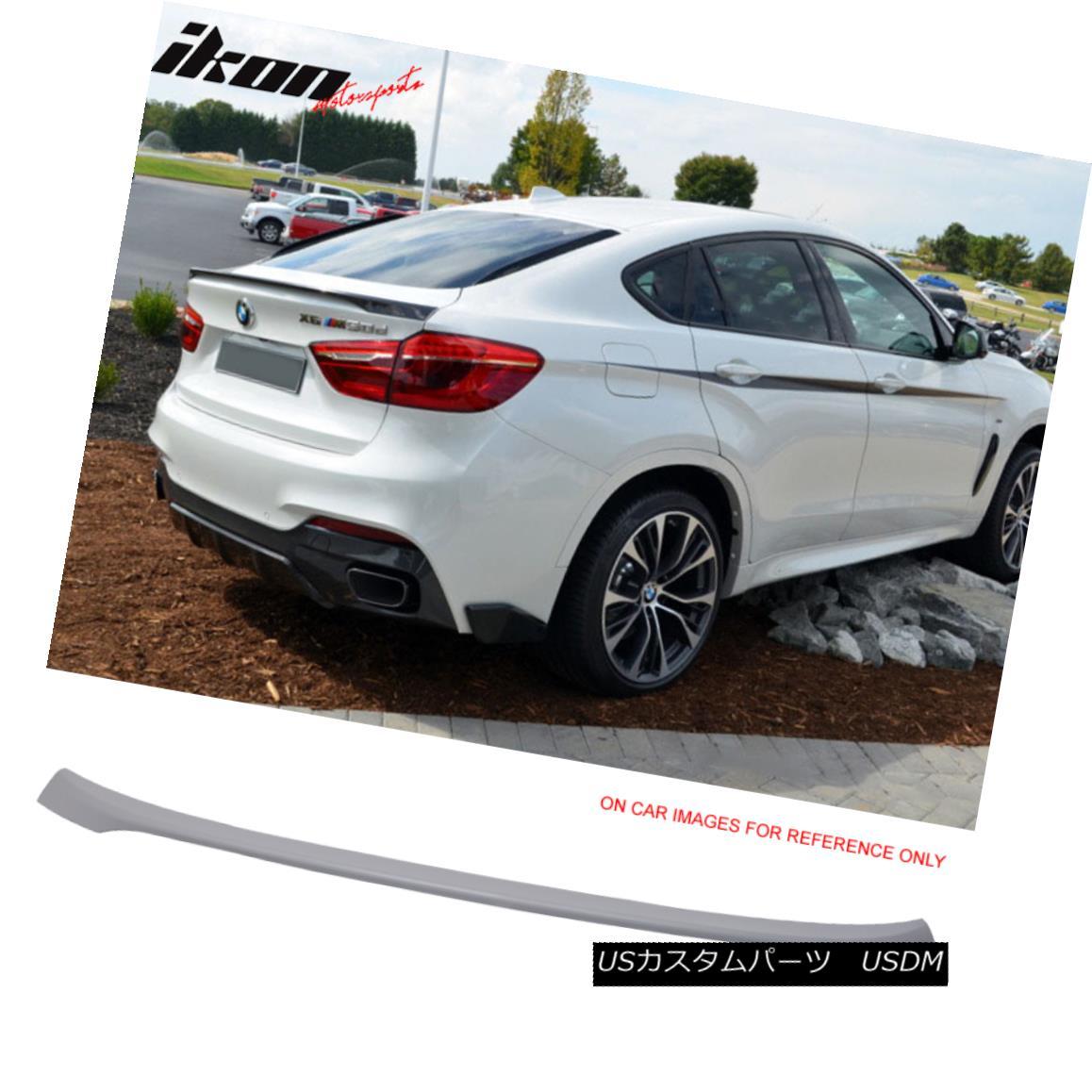 エアロパーツ Fits 16-17 BMW F16 X6 F86 X6M Performance Style Trunk Spoiler Wing Unpainted ABS フィット16-17 BMW F16 X6 F86 X6Mパフォーマンススタイルトランクスポイラーウイング未塗装ABS