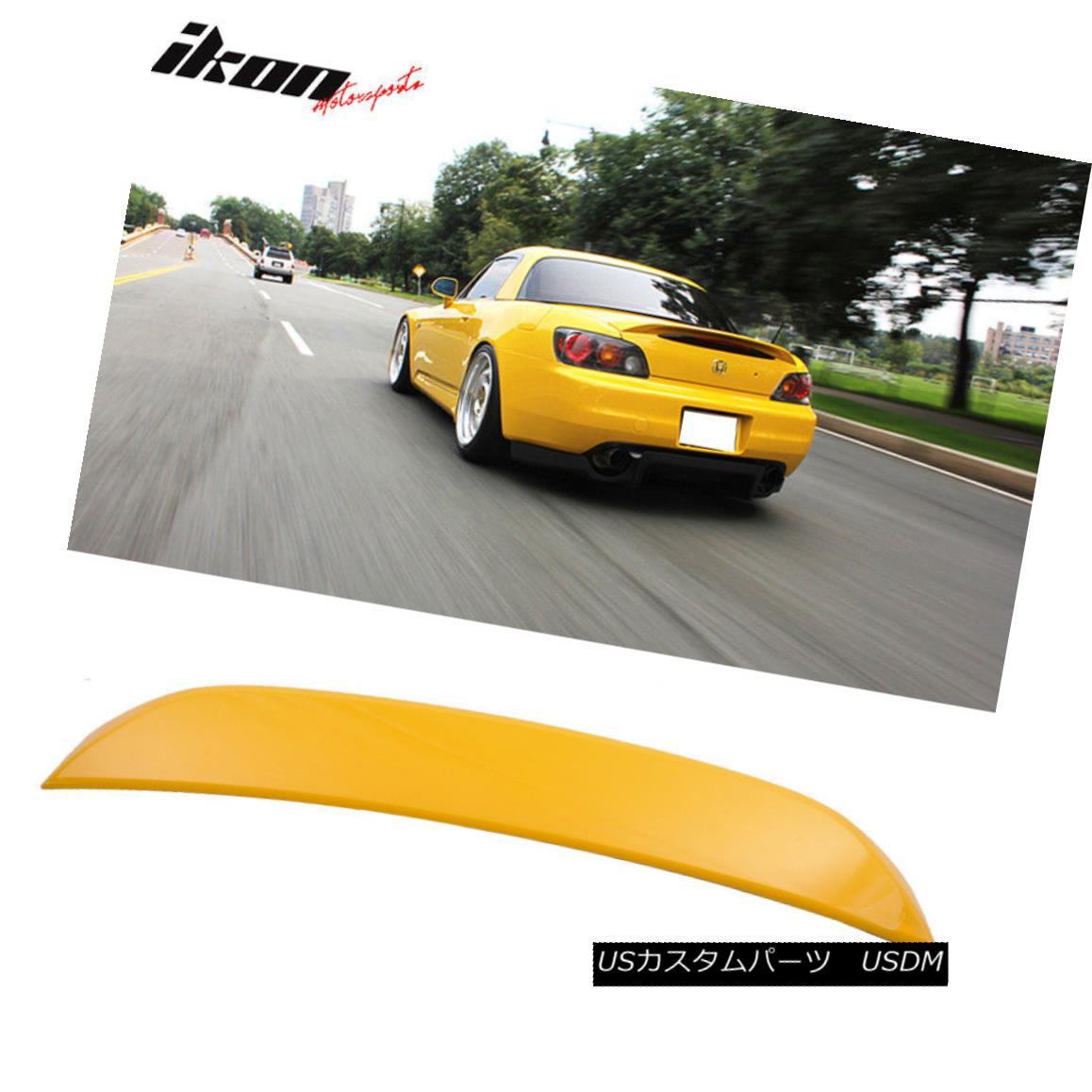 エアロパーツ Fits 01-03 S2000 AP1 OE Factory Trunk Spoiler Painted Spa Yellow Pearl #Y52P フィット01-03 S2000 AP1 OE工場トランクスポイラー塗装スパイエローパール#Y52P