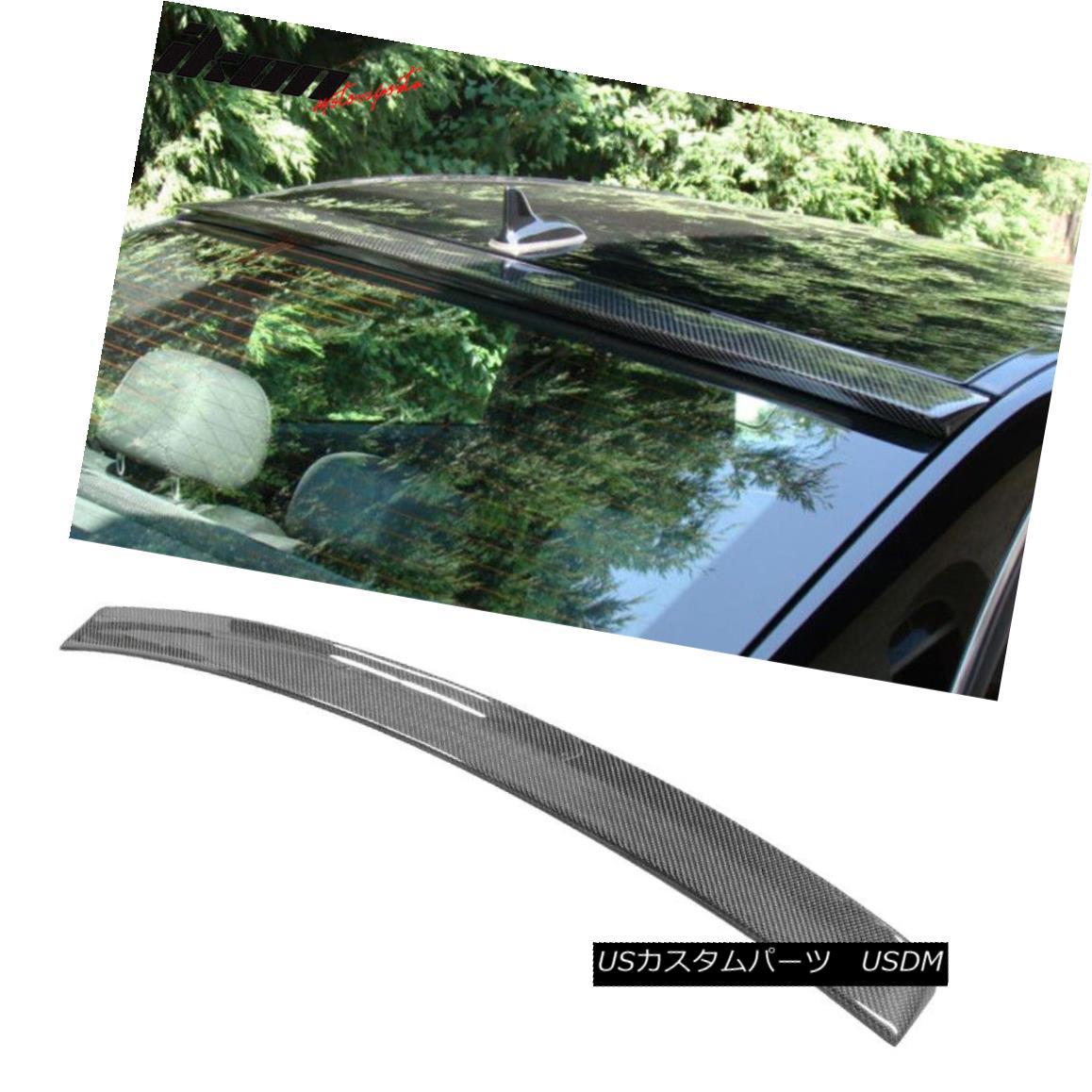 エアロパーツ Fits 10-16 Benz E-Class W212 Sedan OE Factory Roof Spoiler Carbon Fiber CF フィット10-16ベンツEクラスW212セダンOE工場ルーフスポイラー炭素繊維CF