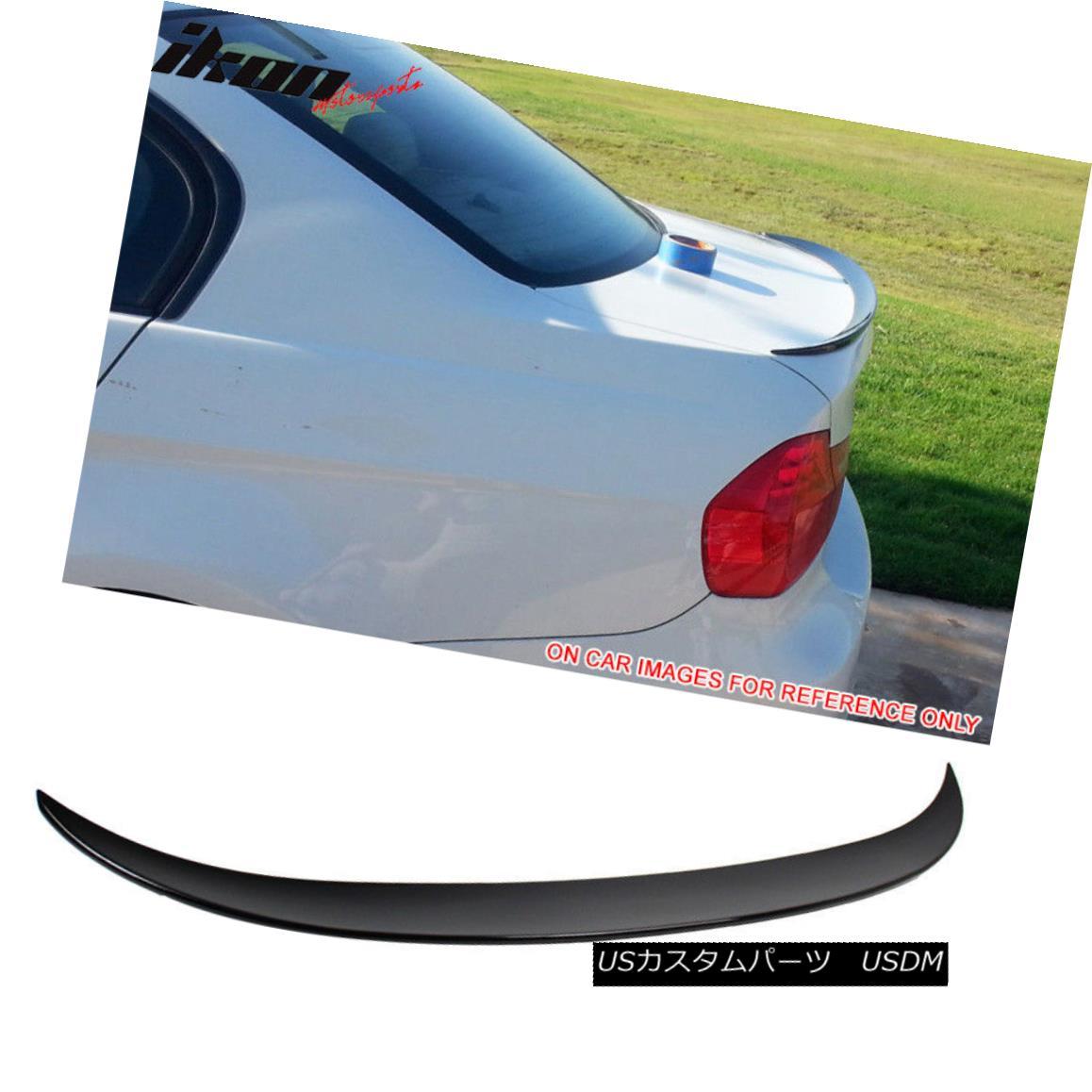 エアロパーツ Fits 06-11 3 Series E90 Sedan Performance2 Trunk Spoiler Painted Jet Black #668 フィット06-11 3シリーズE90セダンパフォーマンス2トランクスポイラーペイントジェットブラック#668