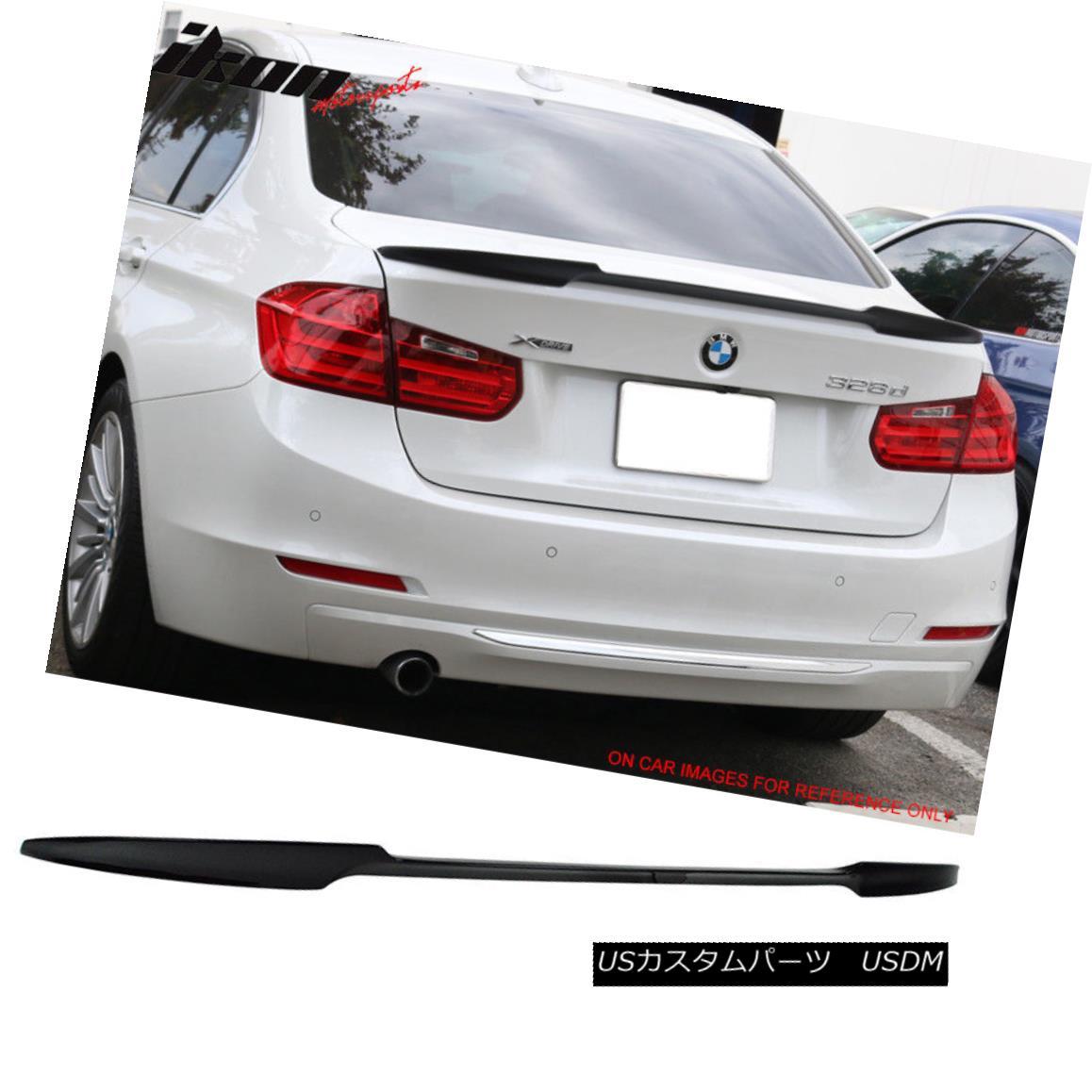 エアロパーツ 12-18 BMW 3 Series F80 M3 F30 4Dr V Style Trunk Spoiler Painted Jet Black #668 12-18 BMW 3シリーズF80 M3 F30 4Dr Vスタイルトランクスポイラーペイントジェットブラック#668