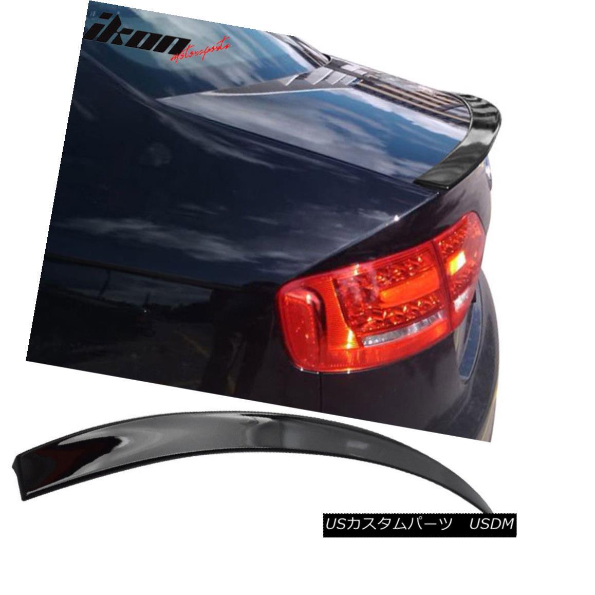 エアロパーツ Fits 09-12 Audi A4 Sedan B8 A Type Trunk Spoiler Painted #LY9B Brilliant Black フィット09-12アウディA4セダンB8 Aタイプトランクスポイラー#LY9Bブリリアントブラック