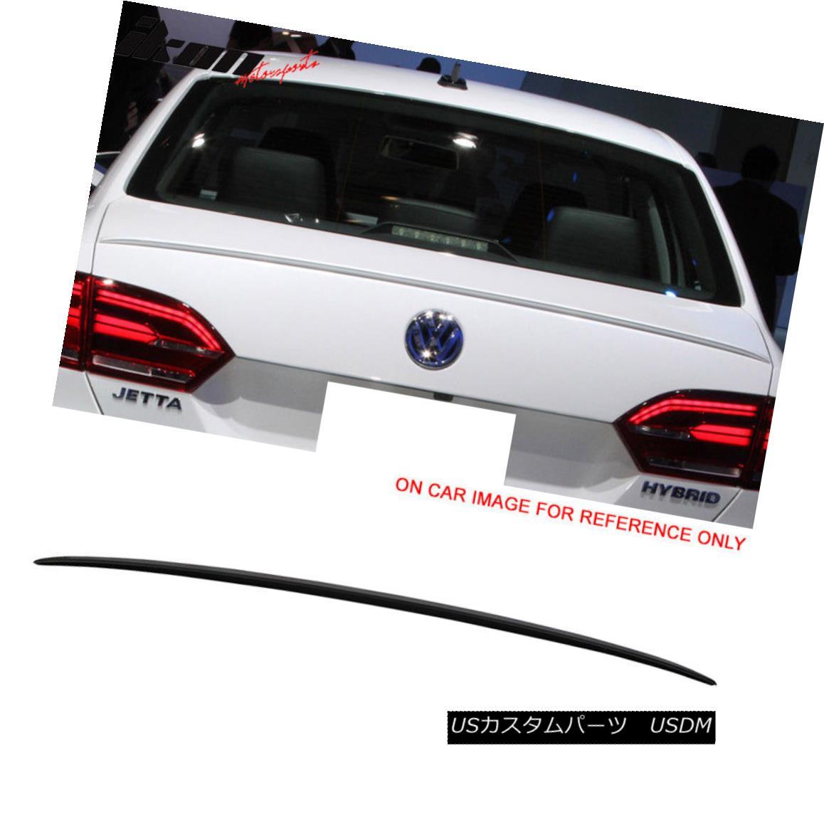 エアロパーツ Fits 11-15 VW Jetta OE Style Flush Mount Trunk Spoiler Painted # L041 Black 11-15 VW Jetta OEスタイルのフラットマウントトランク・スポイラー#L041を塗装