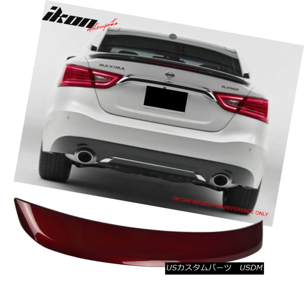 エアロパーツ Fits 16-18 Nissan Maxima A36 OE2 Trunk Spoiler Painted Coulis Red #NAW フィット16-18日産マキシマA36 OE2トランクスポイラー塗装クールレッド#NAW