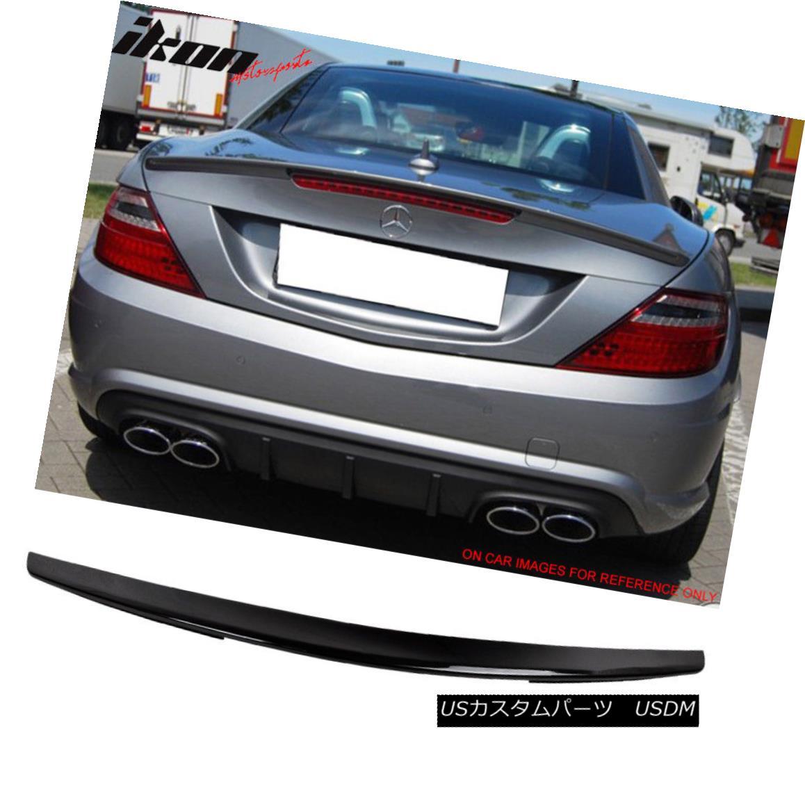 エアロパーツ Fits 11-13 SLK Class R172 Convertible 2Dr AMG Trunk Spoiler Painted #040 Black フィット11-13 SLKクラスR172コンバーチブル2Dr AMGトランク・スポイラー#040黒塗装