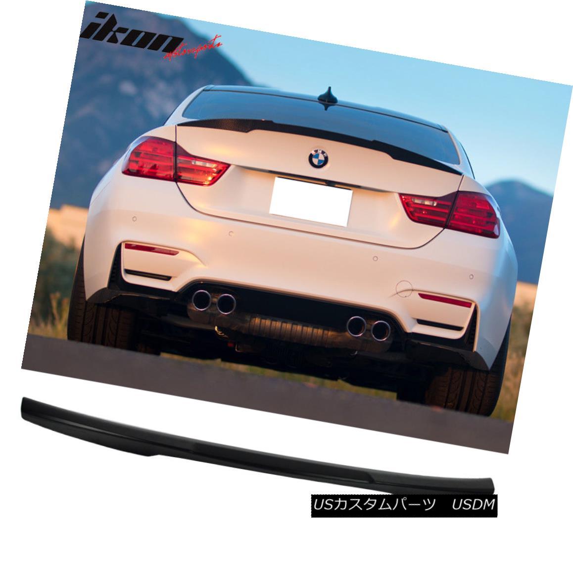 エアロパーツ Fits 14-17 BMW 4 Series F32 Coupe M4 Style Unpainted Trunk Spoiler - ABS フィット14-17 BMW 4シリーズF32クーペM4スタイル未塗装トランクスポイラー - ABS