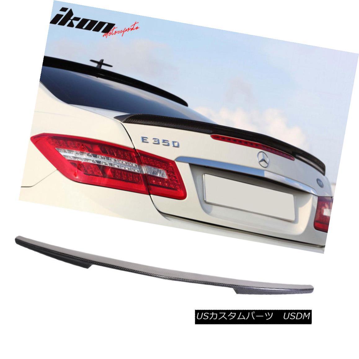 エアロパーツ Fits 10-17 Mercedes Benz C207 Coupe W207 Carbon Fiber (CF) Trunk Spoiler フィット10-17メルセデスベンツC207クーペW207炭素繊維(CF)トランクスポイラー