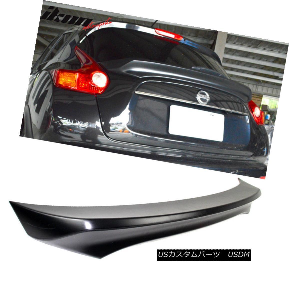 エアロパーツ Fits 15-17 Nissan Juke IKON Style Unpainted Trunk Spoiler Wing - ABS フィット15-17日産ジュークIKONスタイル無塗装トランクスポイラーウィング - ABS