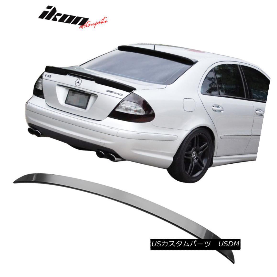 エアロパーツ Fits 03-09 Benz E-Class W211 Sedan L Type ABS Trunk Spoiler Painted Black #040 フィット03-09ベンツEクラスW211セダンLタイプABSトランクスポイラーペイントブラック#040