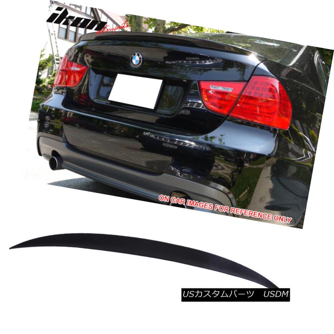 エアロパーツ Fits 06-11 BMW E90 Sedan Performance Unpainted ABS High Kick Trunk Spoiler フィット06-11 BMW E90セダンパフォーマンス未塗装ABSハイキックトランクスポイラー
