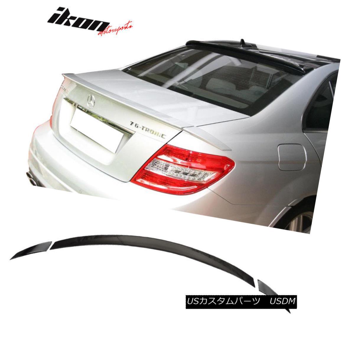 エアロパーツ Fits 08-14 Benz C-Class W204 Sedan B Style Trunk Spoiler ABS Painted #040 Black フィット08-14ベンツCクラスW204セダンBスタイルトランクスポイラーABS塗装#040ブラック