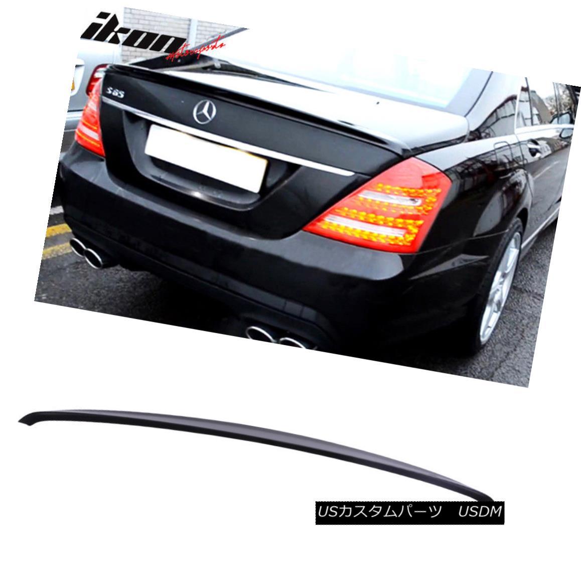 エアロパーツ Fits 07-13 S-Class W221 AMG Trunk Spoiler Painted Obsidian Black Metallic #197 フィット07-13 SクラスW221 AMGトランク・スポイラー・ペイントオブシディアンブラックメタリック#197