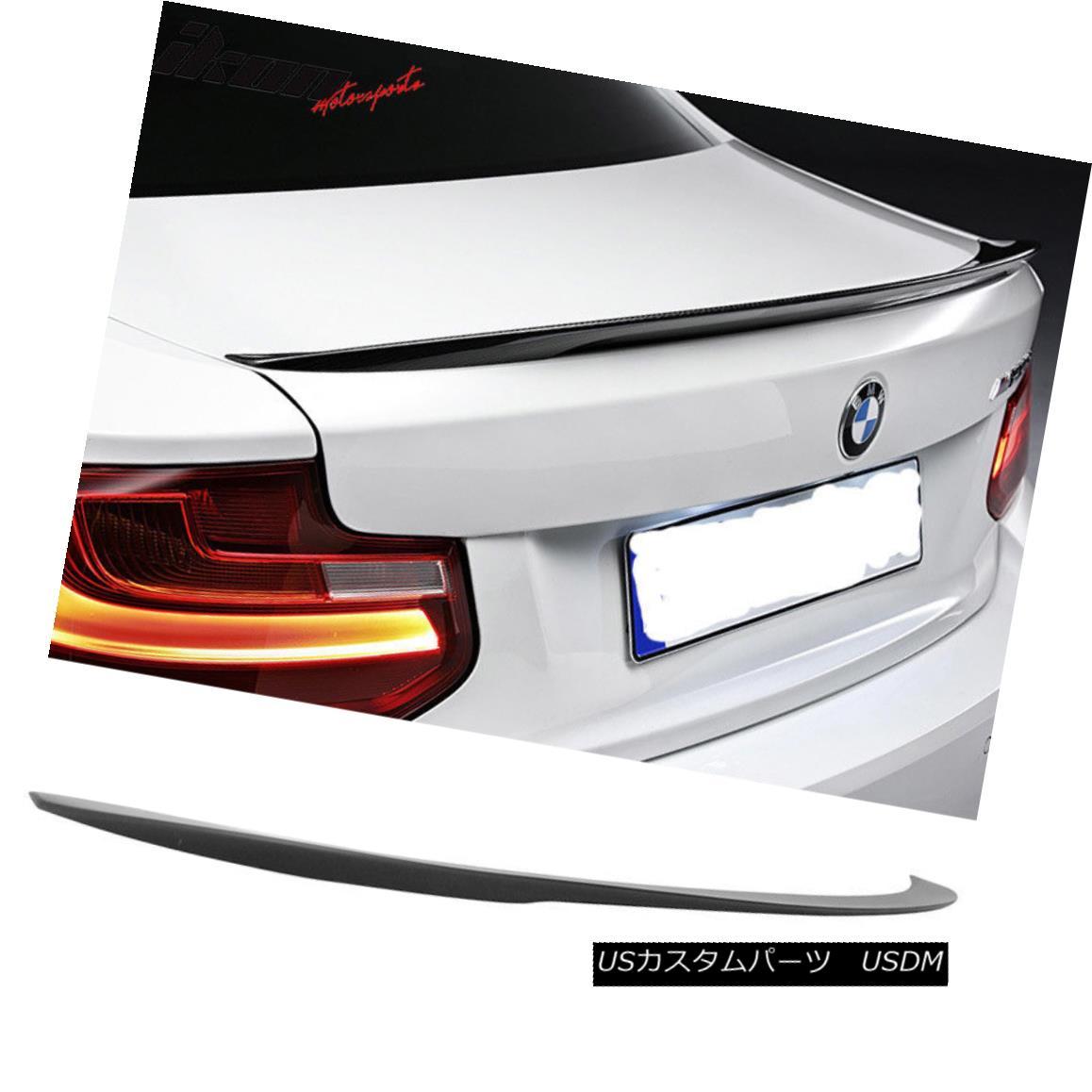 エアロパーツ 14-18 BMW 2-Series F22 Coupe 2Dr Performance Style Trunk Spoiler - Matte Black 14-18 BMW 2シリーズF22クーペ2Drパフォーマンススタイルトランク・スポイラー - マット・ブラック