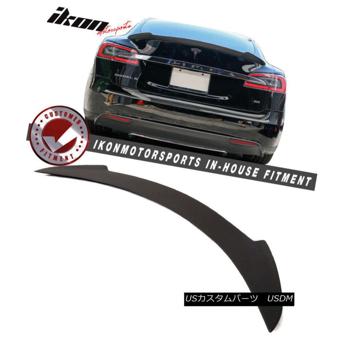 エアロパーツ 12-16 Tesla Model S Hennessy Style Rear Trunk Spoiler Wing Unpainted 12-16テスラモデルSヘネシースタイルリアトランクスポイラーウイング未塗装