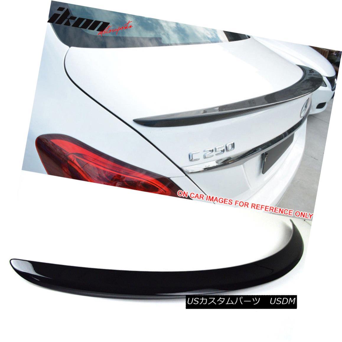 エアロパーツ Fits 15-18 Benz W205 C Class Sedan AMG Trunk Spoiler Painted #197 Obsidian Black フィット15-18 Benz W205 CクラスセダンAMGトランク・スポイラー・ペイント#197 Obsidian Black