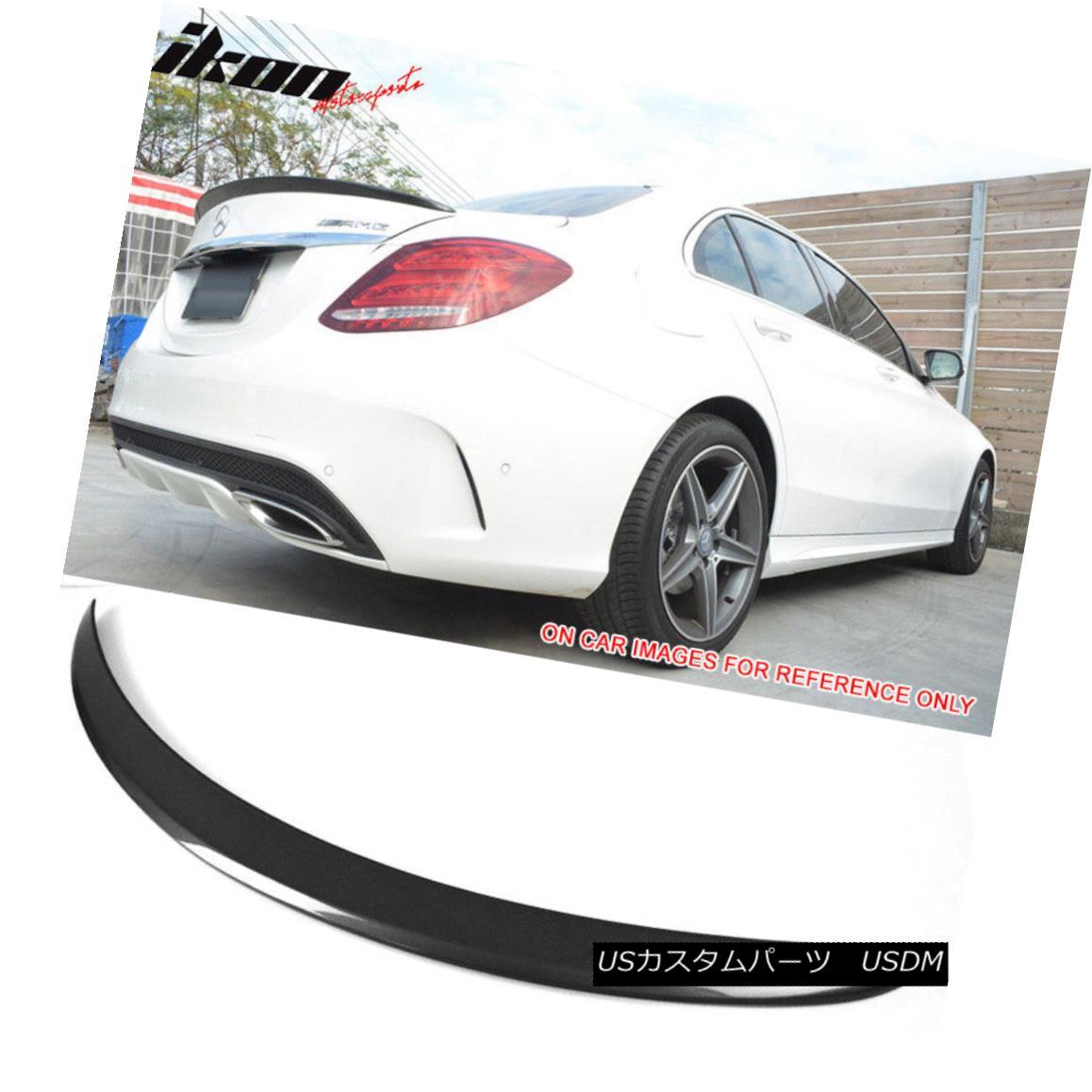 エアロパーツ Fits 15-18 W205 Sedan AMG Trunk Spoiler Painted #755 Steel Gray Metallic フィット15-18 W205セダンAMGトランクスポイラー塗装#755スチールグレーメタリック