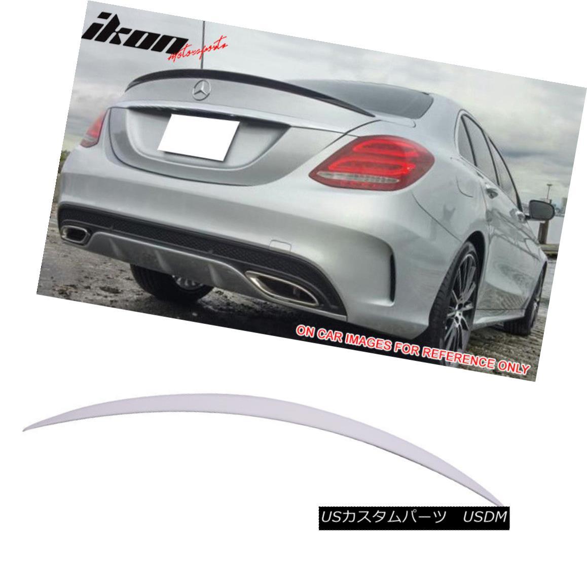 エアロパーツ Fits 15-18 Benz W205 C Class Sedan AMG Trunk Spoiler Painted #149 Polar White フィット15-18ベンツW205 CクラスセダンAMGトランク・スポイラー#149極白