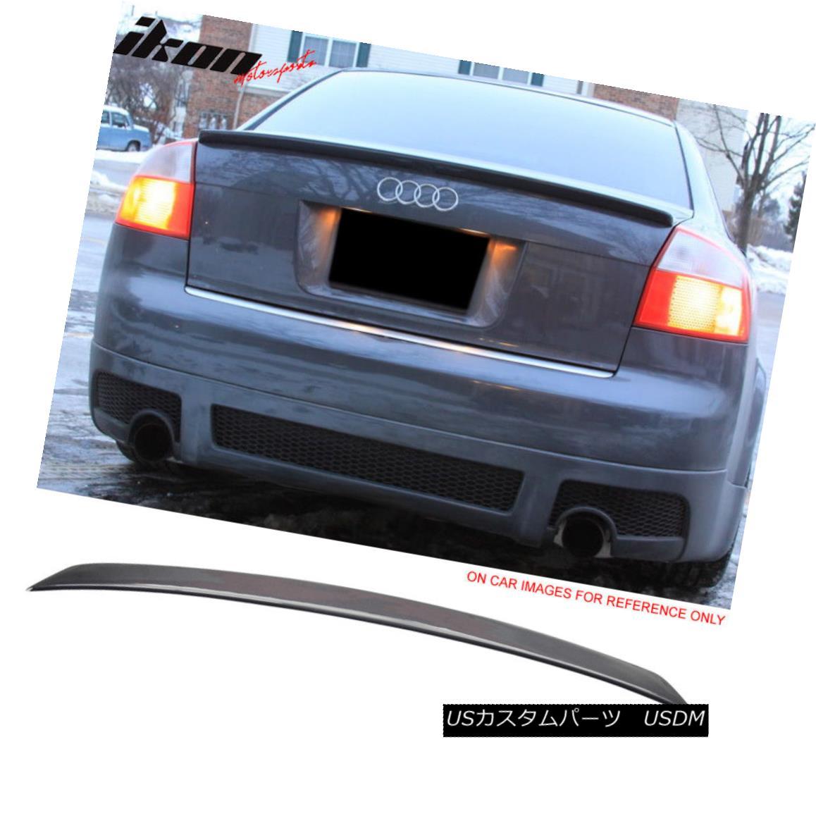 エアロパーツ Fits 02-05 Audi A4 B6 Sedan A Type Trunk Spoiler Painted #LX7Z Dolphin Gray フィット02-05アウディA4 B6セダンA型トランク・スポイラー#LX7Zイルカ・グレー