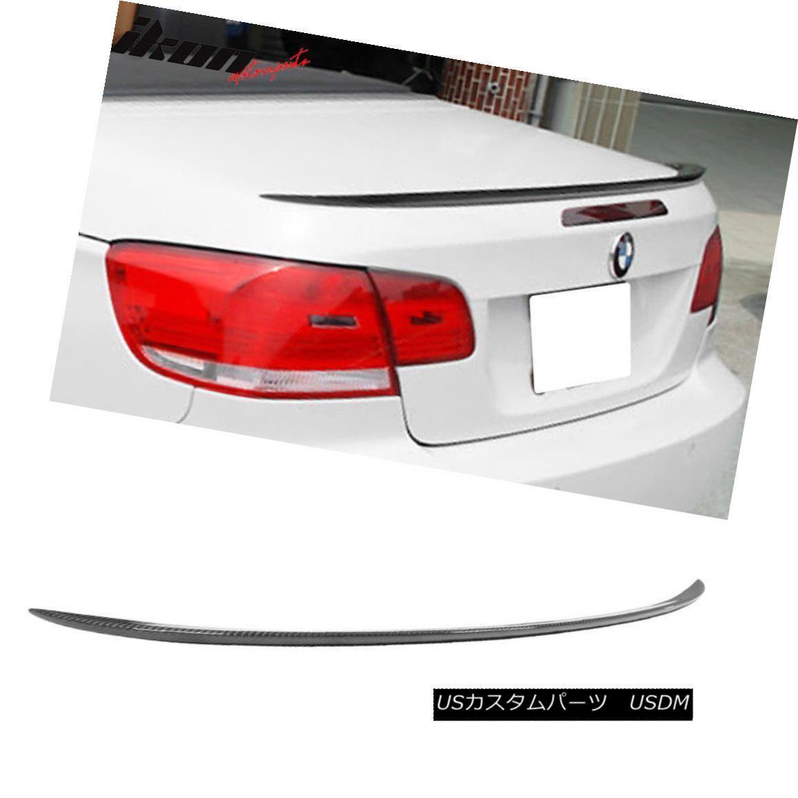エアロパーツ Fits 07-13 BMW 3 Series E93 Convertible M3 Carbon Fiber CF Sport Trunk Spoiler 適合07-13 BMW 3シリーズE93コンバーチブルM3炭素繊維CFスポーツトランク・スポイラー