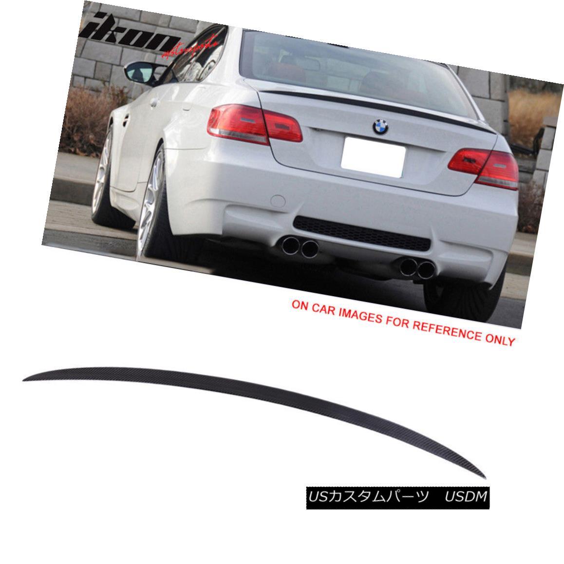 エアロパーツ Fits 07-13 BMW 3 Series E92 3 Series M3 Style Carbon Fiber CF Trunk Spoiler Wing 適合07-13 BMW 3シリーズE92 3シリーズM3スタイル炭素繊維CFトランク・スポイラー・ウィング