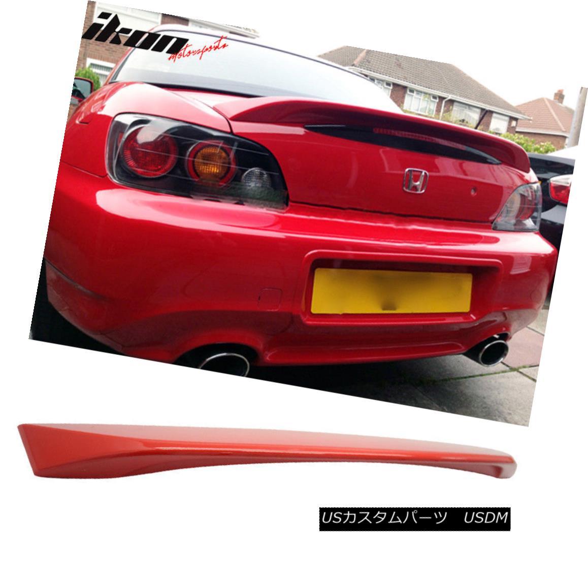 エアロパーツ Fits 00-09 S2000 AP2 Convertible OE Trunk Spoiler Painted #R510 Formula Red フィット00-09 S2000 AP2コンバーチブルOEトランク・スポイラー#R510フォーミュラ・レッド