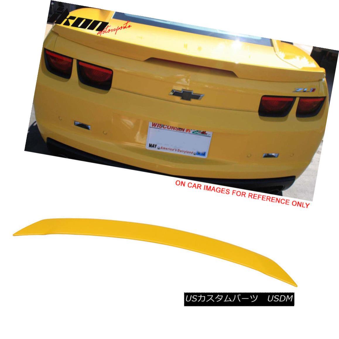 エアロパーツ 10-13 Chevy Camaro ZL1 Style Trunk Spoiler Wing Painted #WA9414 Yellow 10-13シボレー・カマロZL1スタイル・トランク・スポイラー・ウィング・ペイント#WA9414イエロー
