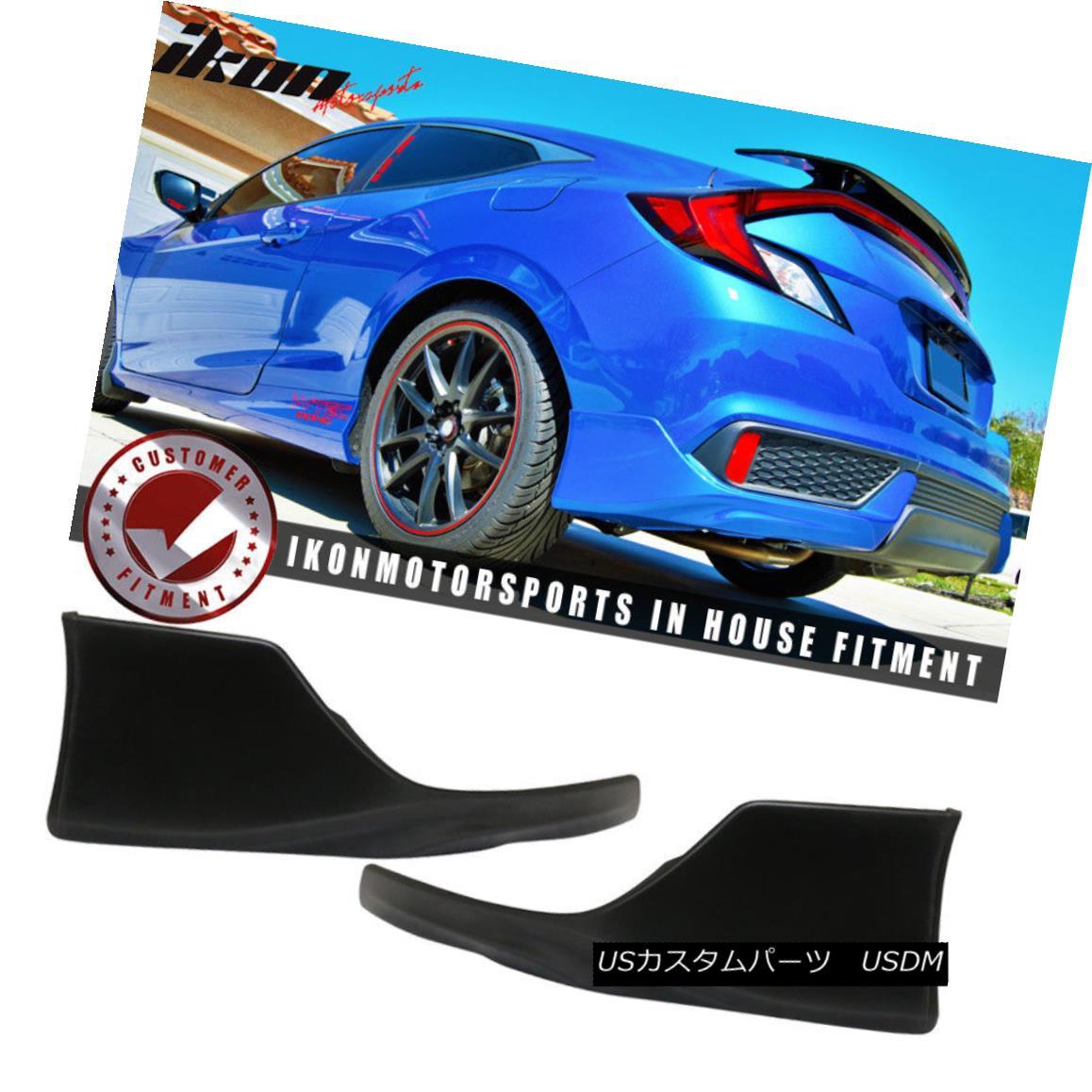 エアロパーツ Fits 16-18 Honda Civic Coupe 2Dr HFP Style Rear Bumper Lip - Poly Urethane PU フィット16-18ホンダシビッククーペ2Dr HFPスタイルリアバンパーリップ - ポリウレタンPU