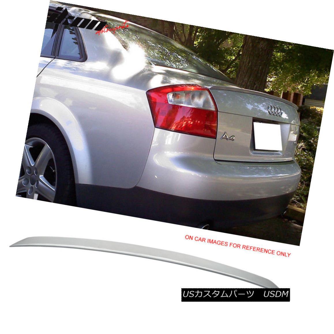 エアロパーツ Fits 02-05 Audi A4 B6 A Type Trunk Spoiler Painted #LY7G Quartz Gray Metallic フィット02-05アウディA4 B6 Aタイプトランクスポイラー#LY7Gクォーツグレーメタリック塗装