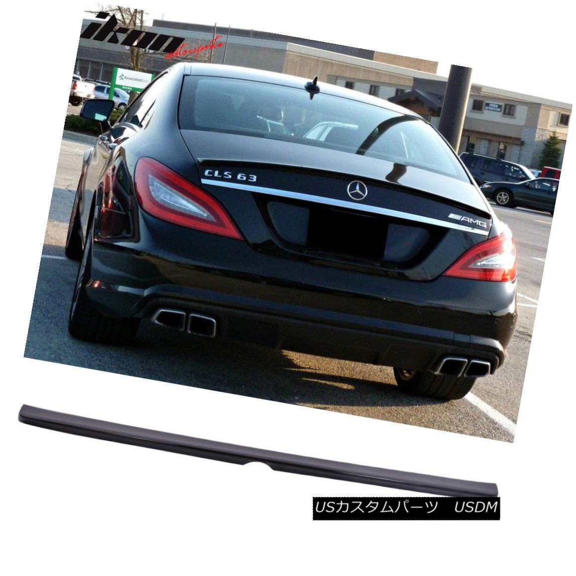 エアロパーツ Fits 11-17 Benz CLS Class W218 Sedan AMG Style Trunk Spoiler Painted #040 Black フィット11-17ベンツCLSクラスW218セダンAMGスタイルトランクスポイラー#040黒塗装