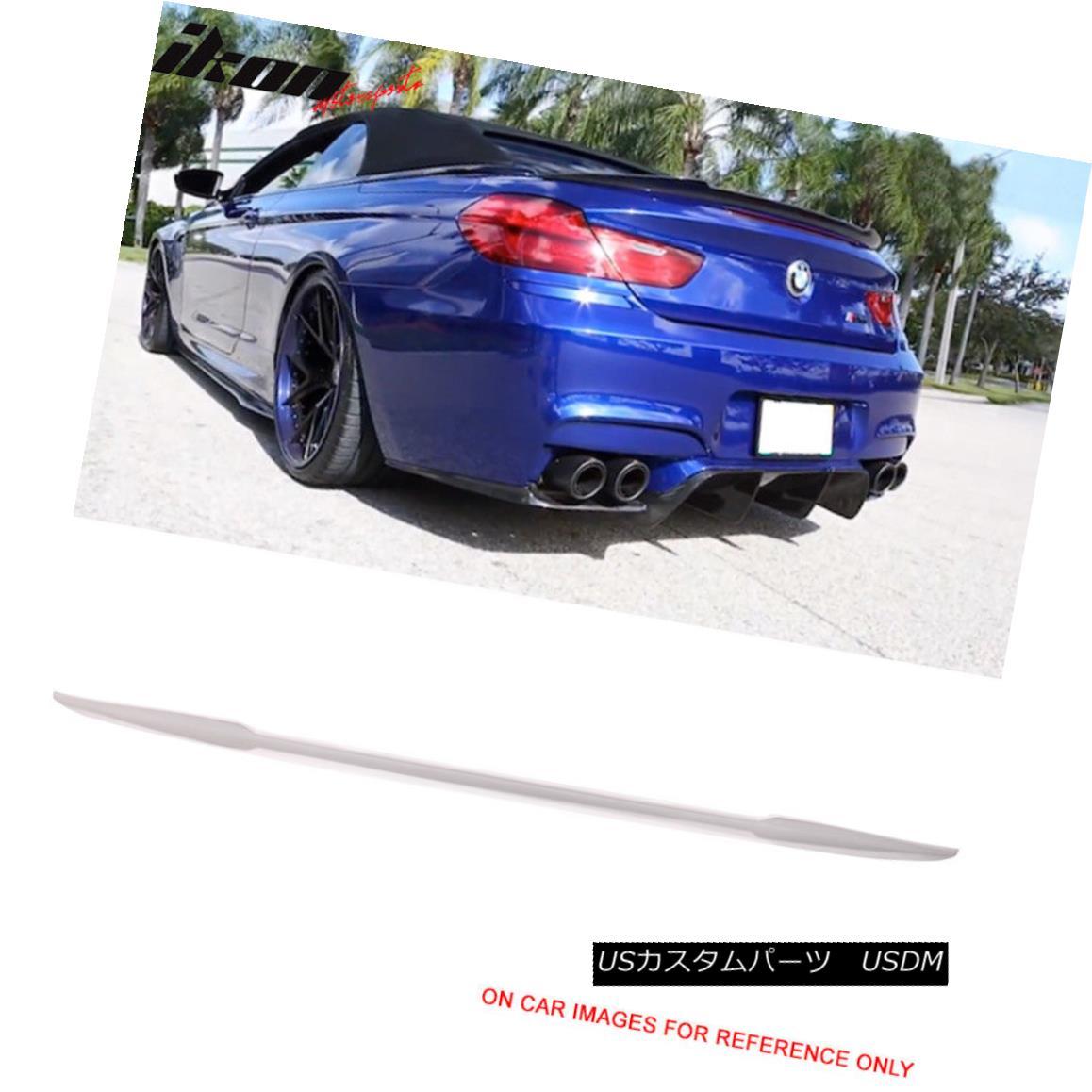 エアロパーツ Fits 12-17 BMW F12 6 Series Trunk Spoiler Painted #300 Alpine White III フィット12-17 BMW F12 6シリーズトランク・スポイラー・ペイント#300アルパイン・ホワイトIII