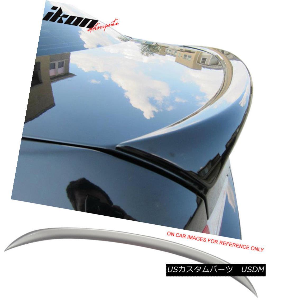 エアロパーツ Fits 06-11 E90 OE Factory Trunk Spoiler Painted #354 Titanium Silver Metallic フィット06-11 E90 OE工場のトランク・スポイラー・ペイント#354チタン・シルバー・メタリック