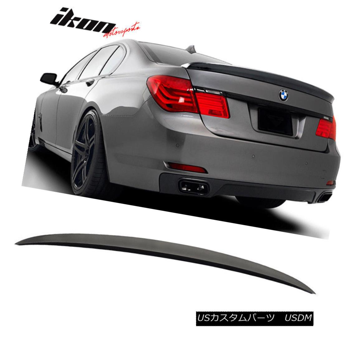 Fits 09-15 BMW 7 Series F01 AC Style Unpainted ABS Trunk Spoiler Wing