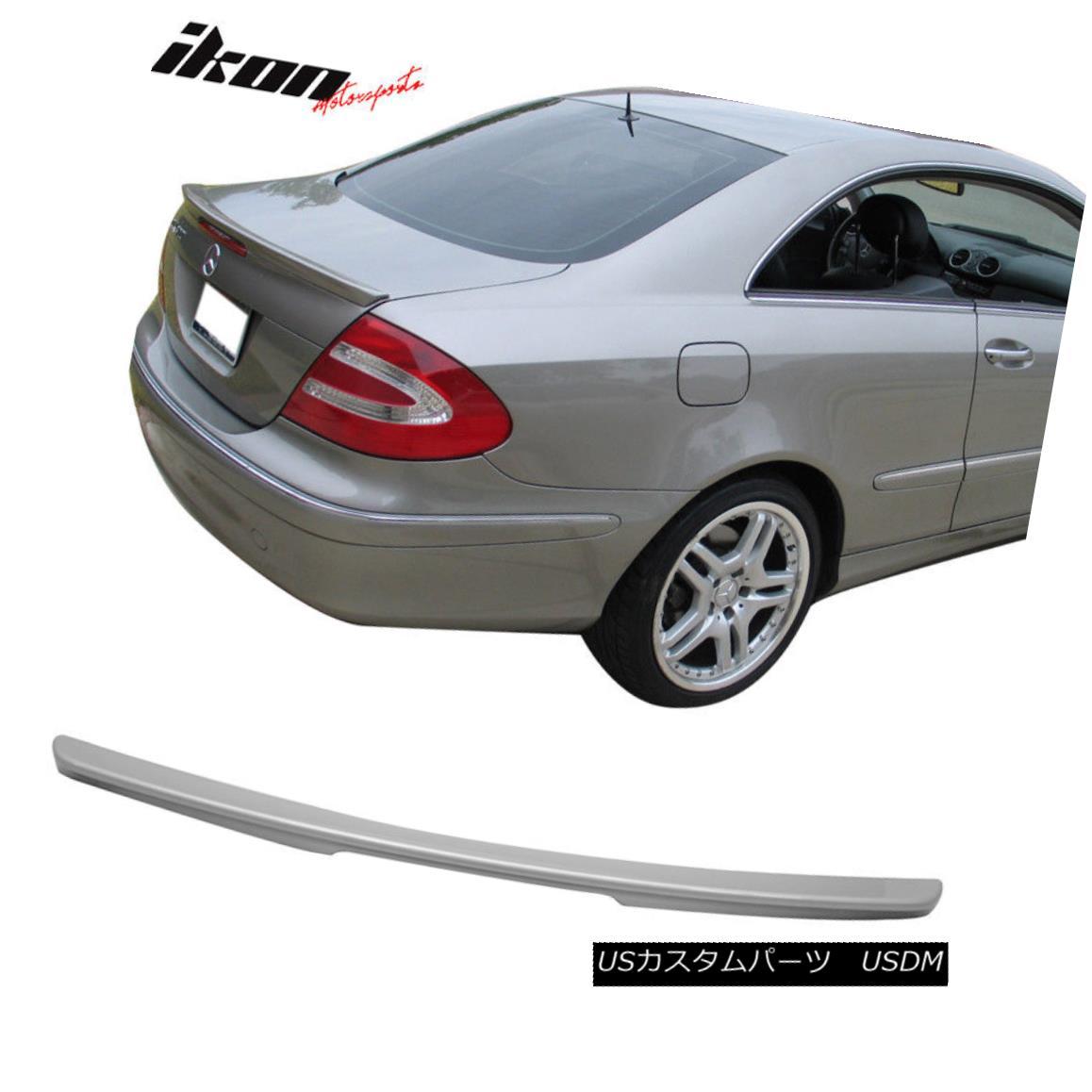 エアロパーツ Fits 03-08 CLK W209 Coupe AMG Trunk Spoiler Painted Silver Metallic #744 775 フィット03-08 CLK W209クーペAMGトランクスポイラーペイントシルバーメタリック#744 775